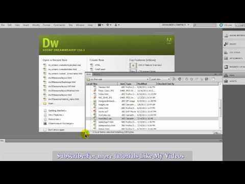 Introduction to Dreamweaver CS5   Part 1
